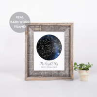 Custom Constellation Print In A Reclaimed Barn..