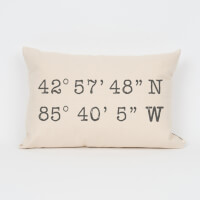 Coordinates Personalized Pillow