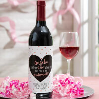 Will You Be My Bridesmaid Personalized Wine..