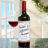 New Home Personalized Wine Bottle Labels