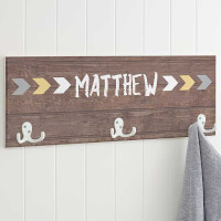 Personalized Kids Coat Rack - Tribal