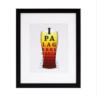 Beer Exam Art Print