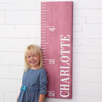 Watch Me Grow! Personalized Canvas Growth Chart..