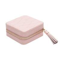 WOLF 1834: Quilted Jewelry Travel Case - Rose