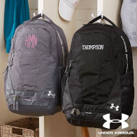 Under Armour Embroidered Black & Grey Backpacks