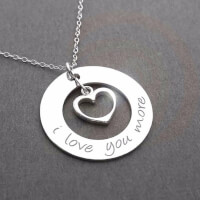 I LOVE YOU MORE NECKLACE IN STERLING SILVER