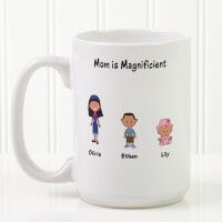 Personalized Large Coffee Mugs - Family Cartoon..