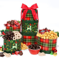 Reindeer Holiday Gift Tower