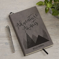Adventure Awaits Personalized Charcoal Journal