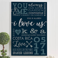 I Love Us Personalized Romantic Canvas Prints |..