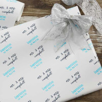 Personalized Wedding Wrapping Paper - Step &..