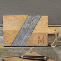 Oakmont Mango Wood & Marble Personalized..