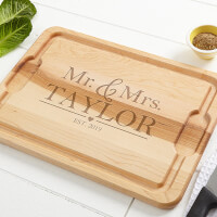 Wedding Couple Personalized 15x21 Cutting Board