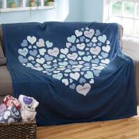 Heart Of Hearts Personalized 60x80 Fleece Blanket