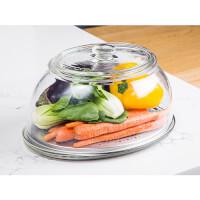 VeggiDome: Glass Tabletop Produce Saver