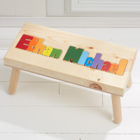 Personalized Boys Name Puzzle Stool - Large