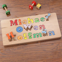 Kids Personalized Name Puzzle Board - 3 Names