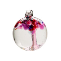 Kitras Art Glass: Tree Of Enchantment Ornament -..