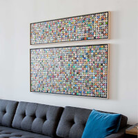 Recycled Aluminum Moving Mosaic