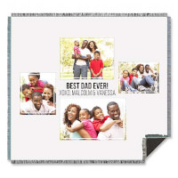 Four Photo Collage Personalized Woven Throw For..