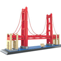 Brain Bricks Landmarks: Golden Gate Bridge
