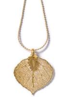 Real Aspen Leaf Necklace