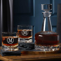 Engraved Whiskey Decanter Set - Orrefors