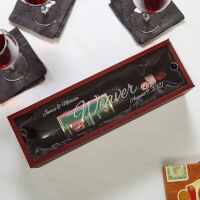 Evening To Remember Personalized Wooden Wine..