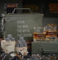 Man Myth Legend Personalized Ammo Can Gift Set..
