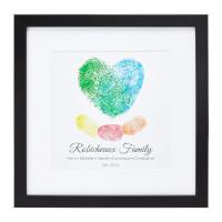 Fingerprints On My Heart Personalized Family Art