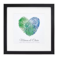 Fingerprints On My Heart Personalized Couple Art