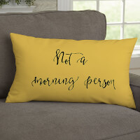 Fun Expressions Personalized Lumbar Throw Pillow