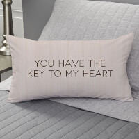Personalized Key To My Heart Lumbar Throw Pillow