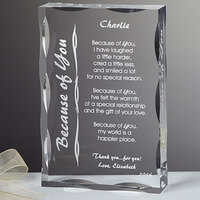 Personalized Poetry Gifts - Engraved Glass..