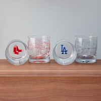 Baseball Park Map Glasses - Set Of 2