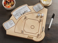 Across The Board: Wooden Tabletop Baseball  Game