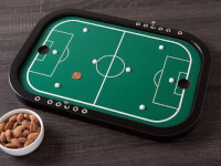 Across The Board: Wooden Tabletop Penny Soccer..