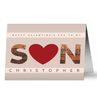 Son Hearts Valentines Day Greeting Card