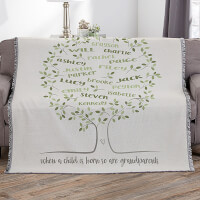 Family Tree Of Life 56x60 Woven Throw