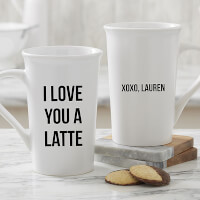 Personalized Latte Mugs - Add Any Text
