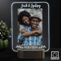 LED Picture Frames Personalized Light Up Glass..