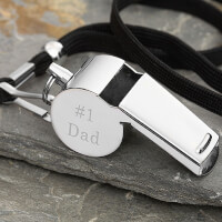 #1 Dad Personalized Whistle Gift For Dad