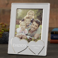 His Heart Personalized Silver Picture Frame