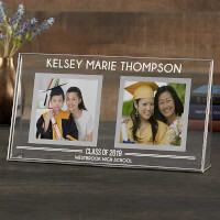 Personalized Double Photo Frame Graduation Gift