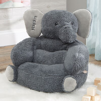 Custom Embroidered Kids Elephant Plush Chair