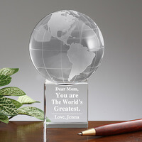 Worlds Greatest Mom Personalized Keepsake Globe