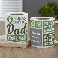 What I Love About Dad Personalized Fathers Day..