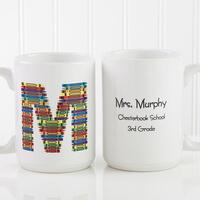 Teachers Personalized Large Coffee Mugs - Crayon..