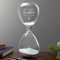 Our Love Is Timeless Personalized Hourglass Gift