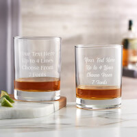 Personalized Whiskey Glasses - Add Any Text